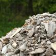 Full construction waste debris rubble bags — Stock Photo