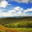 Mountains hills landscape Bieszczady Poland — Stock Photo #33835233