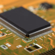 Printed Circuit Board with electrical components — Stock Photo