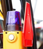 Signal lamp for warning flashing light on vehicle — Stock Photo