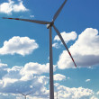 Wind turbine power generator renewable energy production — Stock Photo