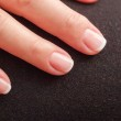 Close-up of woman hand with french manicure — Stock Photo