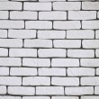 Background of white brick wall texture — Stock Photo