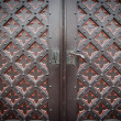 Decorative old wooden church door — Stock Photo