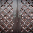 Decorative old wooden church door — Lizenzfreies Foto