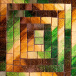 Abstract glass mosaic background green brown tone — Stock Photo