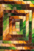 Abstract glass mosaic background green brown tone — Stok fotoğraf