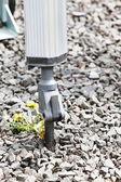 Bras hydraulique du marteau-piqueur pneumatique perceuse — Photo