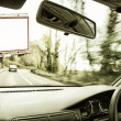 Billboard seen from the inside of a car — Stock Photo #35528599