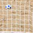 Football gate and ball, beach soccer — Stock Photo