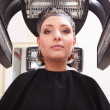 Woman dying hair in hairdressing beauty salon. Hairstyle. — Foto Stock