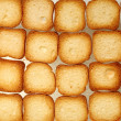 Rusks bread toast biscuits, diet food background — Stock Photo