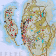 Map of archipelago Ertholmene Christiansoe Denmark — Stockfoto