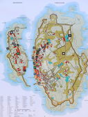 Map of archipelago Ertholmene Christiansoe Denmark — Stock Photo