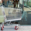 Empty shopping cart trolley — Stock Photo