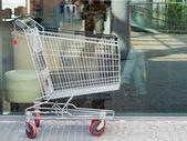 Empty shopping cart trolley — Stock Photo
