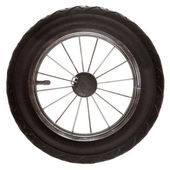 Black wheel of road transport — Stock Photo