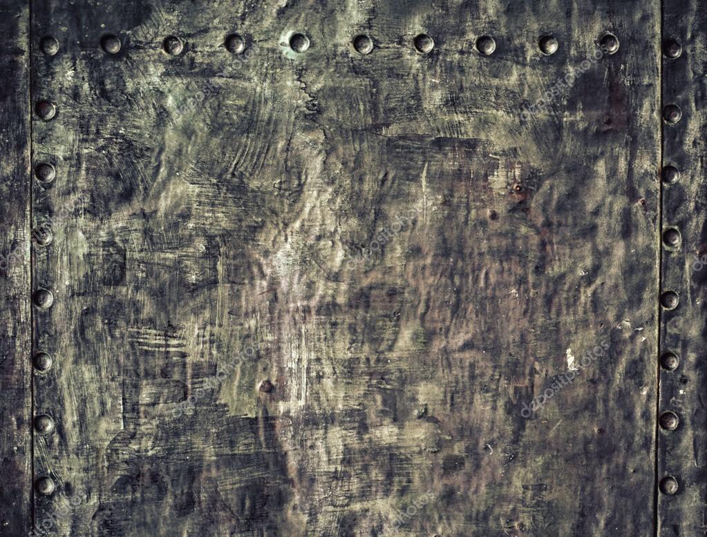 Black Grunge Metal Background Closeup of grunge black metal