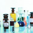 Stock Photo: Various pharmacy medicine bottles isolated