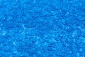 Macro melt snow blue background texture. Winter. — Stock Photo
