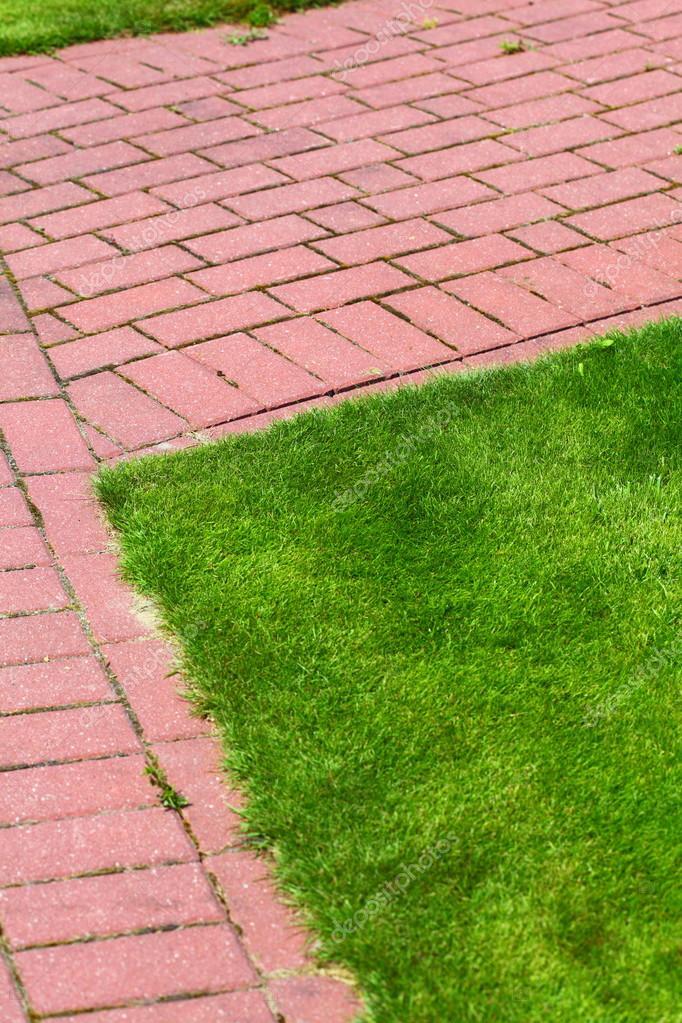 Caminho de pedra no jardim cal ada de tijolos for Adoquines para jardin