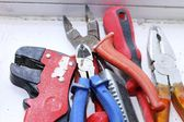 Assorted work tools — Stockfoto