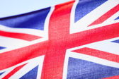 Closeup of UK ensign british flag. Symbol of european country. — 图库照片