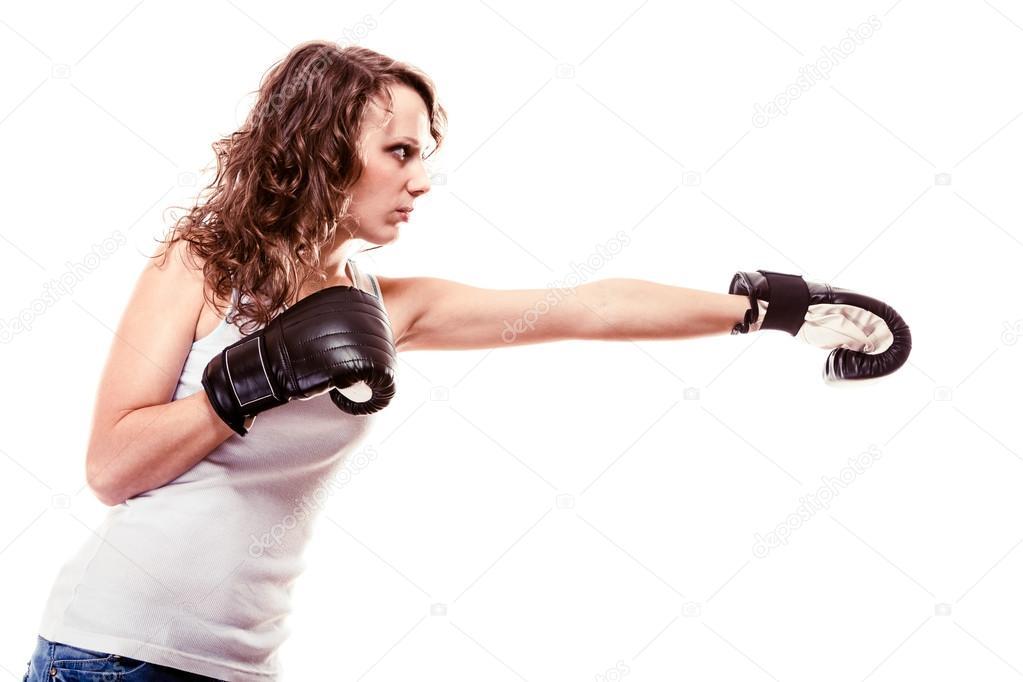Женщина боксер