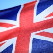 Close up british maritime red ensign flag — Stock Photo #40043845