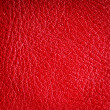 Red textured leather grunge background closeup — Stock Photo #40044283
