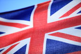 Close up british maritime red ensign flag — Stock Photo