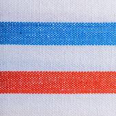 背景やテクスチャとして赤青白ストライプ繊維のクローズ アップ — ストック写真