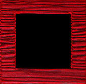 Square framed text box red black background — Stock Photo