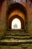 Krak des Chevaliers citadel tower Syria — Stock Photo