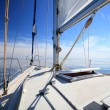 Sailboat yacht sailing in blue sea. Tourism — Stock Photo #41894565