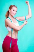 Diet. fitness kvinna — Stockfoto