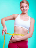 Diet. Fitness woman — Stock Photo