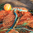 Stock Photo: Fishing net orange fishnet outdoor
