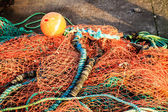 Fishing net orange fishnet outdoor — Stock Photo