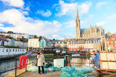 Harbour and town  in Cobh Ireland — Stock Photo