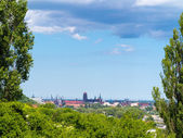 Cityscape. Polish old city Danzig Gda?sk in Poland Europe. Tourism. — Stock Photo
