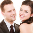 Wedding couple. Portrait of happy bride and groom — Stockfoto