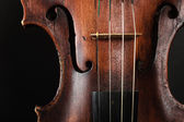 Closeup of violin instrument. Classical music art — Photo