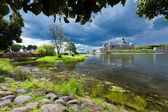 Historical Kalmar castle in Sweden Scandinavia Europe. Landmark. — Stock Photo