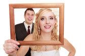 Casal de noivos. retrato da noiva e do noivo — Foto Stock