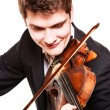 Man violinist playing violin. Classical music art — Stock Photo #45051437