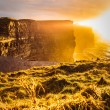Cliffs of Moher at sunset in Co. Clare, Ireland Europe — Stock Photo