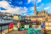 Harbour and town on November 26, 2012 in Cobh Ireland — Stock Photo
