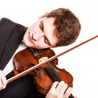 Man violinist playing violin. Classical music art — Stock Photo #45796993