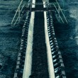 Opencast brown coal mine. Belt conveyor. — Stock Photo #47047047